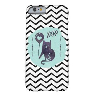 Coque iPhone 6 Barely There Xoxo de zigzag d'aquarelle de Kitty de ballon de