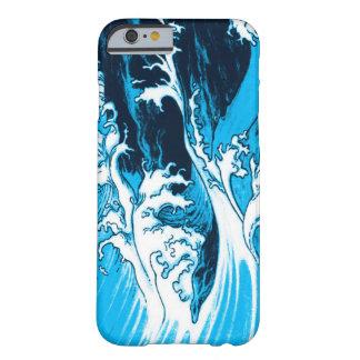 Coque iPhone 6, dessin bleu vagues et écume