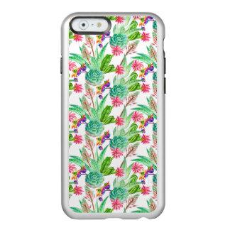 Coque iPhone 6 Incipio Feather® Shine Cactus lumineux d'aquarelle et motif succulent