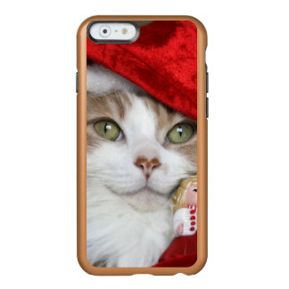 Coque iPhone 6 Incipio Feather® Shine Chat de Père Noël - chat de Noël - chatons mignons