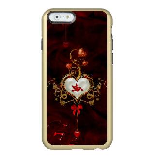 Coque iPhone 6 Incipio Feather® Shine Coeur merveilleux avec la colombe