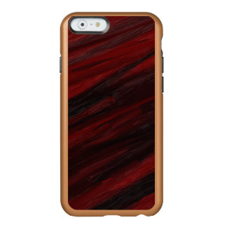 Coque iPhone 6 Incipio Feather® Shine Filets diagonaux rouges et noirs