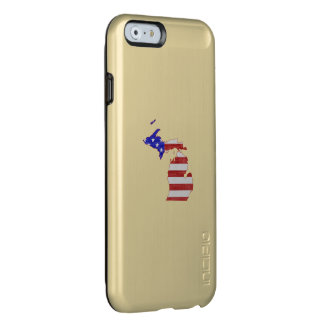 Coque iPhone 6 Incipio Feather® Shine Le Michigan a formé le drapeau américain