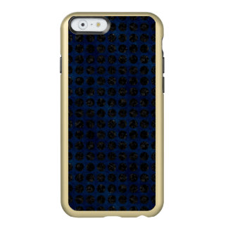 COQUE iPhone 6 INCIPIO FEATHER® SHINE MARBRE CIRCLES1 NOIR ET DENIM BLEU (R)
