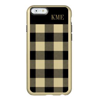 Coque iPhone 6 Incipio Feather® Shine Monogramme de très bon goût de contrôle d'or et de