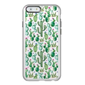 Coque iPhone 6 Incipio Feather® Shine Motif d'usines de cactus d'aquarelle