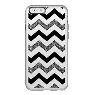 Coque iPhone 6 Incipio Feather® Shine Parties scintillantes blanches Chevron