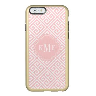 Coque iPhone 6 Incipio Feather® Shine Rose et monogramme principal grec d'or