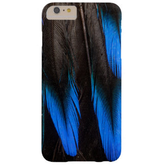 Coque iPhone 6 Plus Barely There Abrégé sur noir et bleu plume