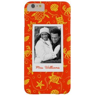 Coque iPhone 6 Plus Barely There Ajoutez votre motif orange de plage de la photo |