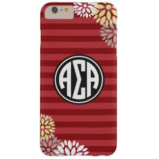Coque iPhone 6 Plus Barely There Alpha motif de rayure de monogramme de l'alpha |