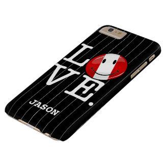 Coque iPhone 6 Plus Barely There Amour de drapeau péruvien de sourire du Pérou