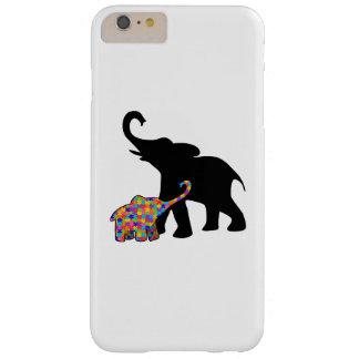 Coque iPhone 6 Plus Barely There Appui de sensibilisation sur l'autisme d'éléphant