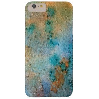 Coque iPhone 6 Plus Barely There aquarelle abstraite, motif jaune-orange bleu