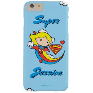 Coque iPhone 6 Plus Barely There Arc-en-ciel de vol de Chibi Supergirl