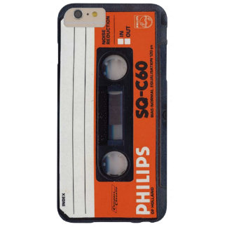 Coque iPhone 6 Plus Barely There Bande C60 CARRÉ de cassette audio de Phillips