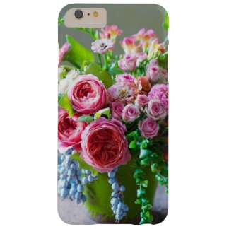 Coque iPhone 6 Plus Barely There Beaux roses roses et caisse verte de