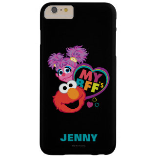 Coque iPhone 6 Plus Barely There BFF Abby et Elmo | ajoutent votre nom