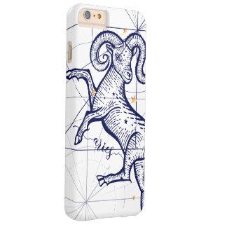 Coque iPhone 6 Plus Barely There Bleu marine de zodiaque de Bélier et cas de