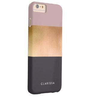 Coque iPhone 6 Plus Barely There bloc gris de couleur de rose rose lumineux élégant