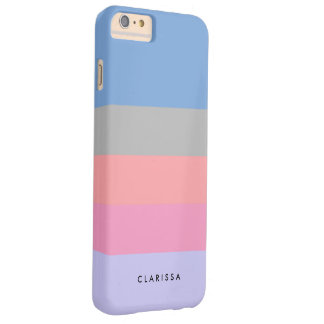 Coque iPhone 6 Plus Barely There bloc pourpre bleu gris de corail de couleur de