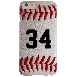 Coque iPhone 6 Plus Barely There Boule et nombre de base-ball