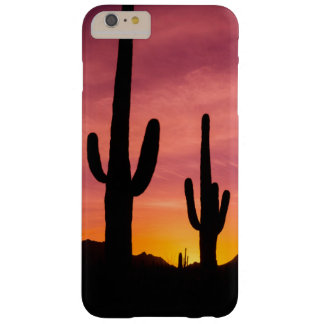 Coque iPhone 6 Plus Barely There Cactus de Saguaro au lever de soleil, Arizona