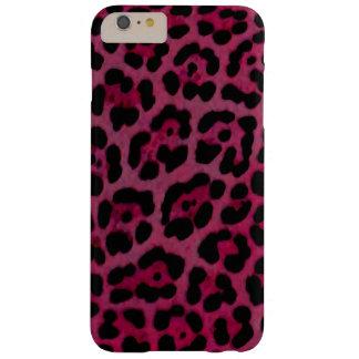 Coque iPhone 6 Plus Barely There Caisse rose d'impression de Jaguar