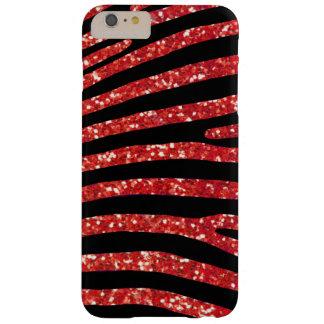 Coque iPhone 6 Plus Barely There Caisse rouge de rayure de zèbre de parties