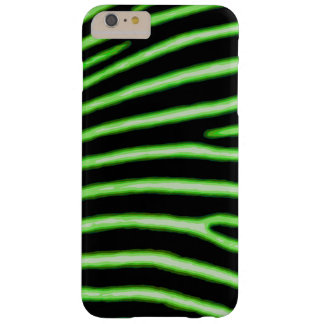 Coque iPhone 6 Plus Barely There Caisse verte au néon de zèbre
