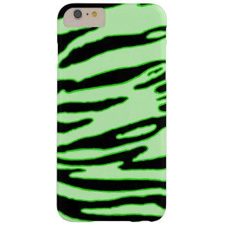 Coque iPhone 6 Plus Barely There Caisse verte de rayure de tigre