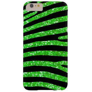 Coque iPhone 6 Plus Barely There Caisse verte de rayure de zèbre de parties