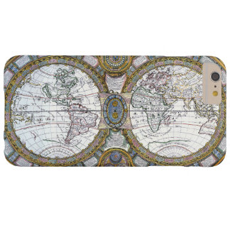 Coque iPhone 6 Plus Barely There Carte antique du monde par Claude Auguste Berey,