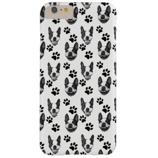 Coque iPhone 6 Plus Barely There Cas de téléphone d'impression de Boston Terrier