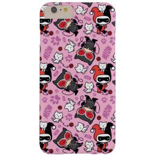 Coque iPhone 6 Plus Barely There Catwoman de Chibi, Harley Quinn, et motif de