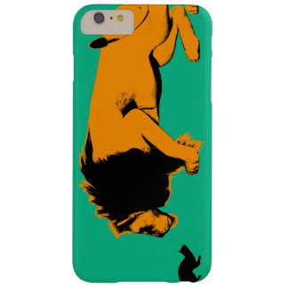 Coque iPhone 6 Plus Barely There Chat contre le lion prêt à combattre ou prendre