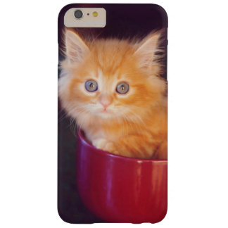 Coque iPhone 6 Plus Barely There Chaton orange dans une tasse rouge
