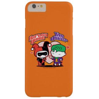 Coque iPhone 6 Plus Barely There Chibi Harley Quinn et coeurs de joker de Chibi