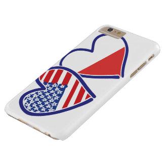 Coque iPhone 6 Plus Barely There Coeurs de drapeau des Etats-Unis Pologne