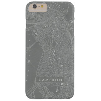Coque iPhone 6 Plus Barely There Croquis de carte de ville de Boston