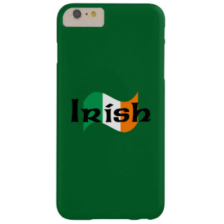 Coque iPhone 6 Plus Barely There Drapeau irlandais avec la police celtique