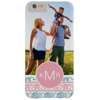 Coque iPhone 6 Plus Barely There Éléphants roses et turquoises faits sur commande
