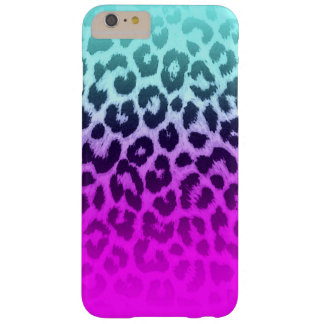 Coque iPhone 6 Plus Barely There Empreinte de léopard rose bleu de guépard de