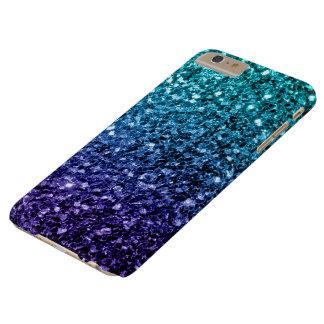 Coque iPhone 6 Plus Barely There Étincelles bleues de scintillement d'Ombre de bel