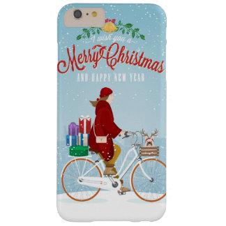 Coque iPhone 6 Plus Barely There Femme dans le téléphone rouge de Joyeux Noël de