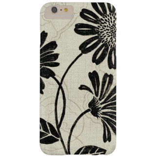 Coque iPhone 6 Plus Barely There Floral contemporain en noir et blanc