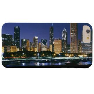 Coque iPhone 6 Plus Barely There Horizon de Chicago du centre la nuit