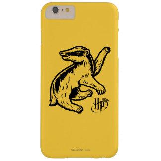 Coque iPhone 6 Plus Barely There Icône de blaireau de Harry Potter | Hufflepuff