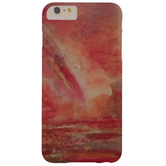 Coque iPhone 6 Plus Barely There iPhone/coque ipad de marbre rougeâtres lumineux
