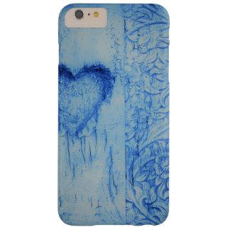 Coque iPhone 6 Plus Barely There iPhone/coque ipad vintages bleus du coeur brisé
